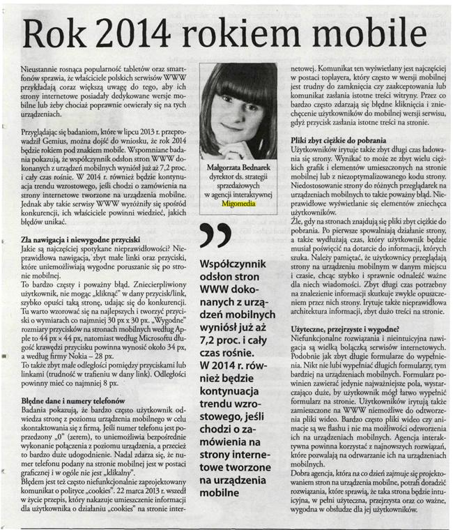 Rok 2014 rokiem mobile